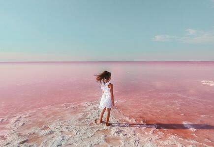 Růžová laguna